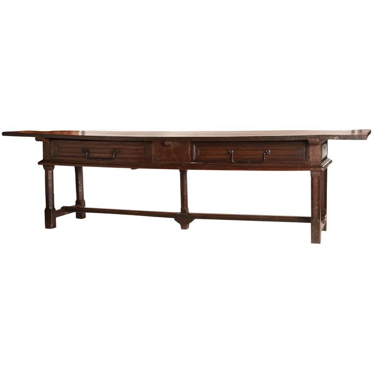 18th Century Spanish Library Table For Sale