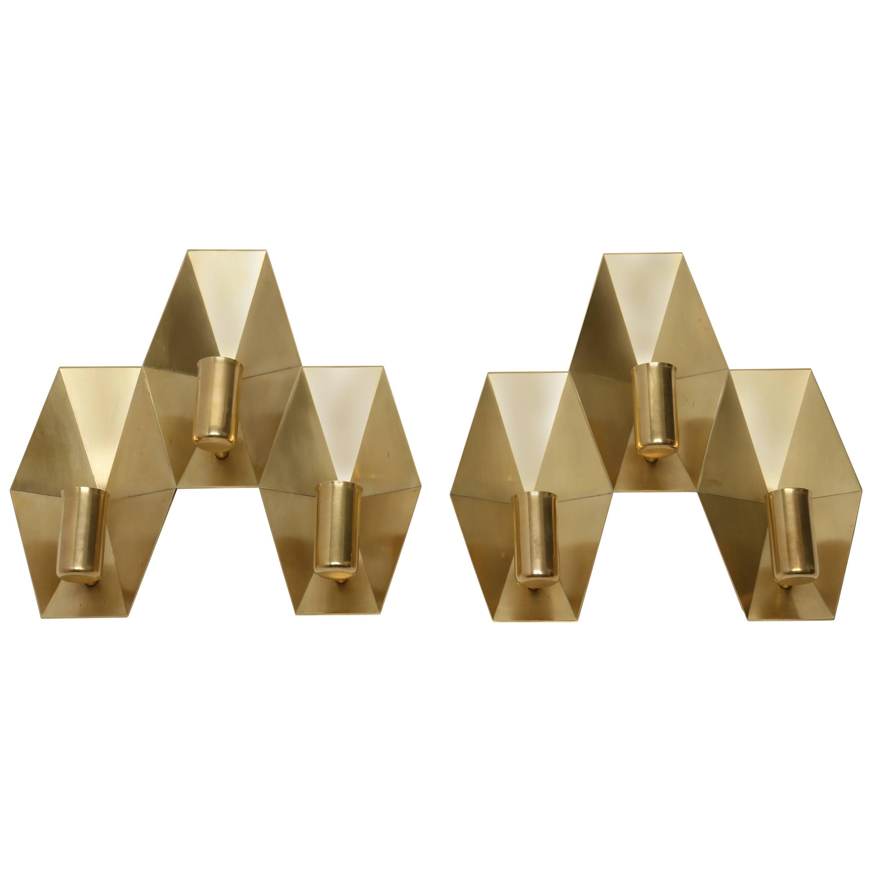 Fog & Morup Brass Wall Lamps