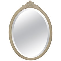 19th Century Oval Painted Mirror