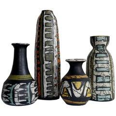 Livia Gorka - Grouping of 4 Vases - Hungary, c. 1950