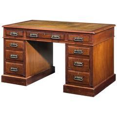 Late 19th Century Victorian Three-Part Pedestal Desk