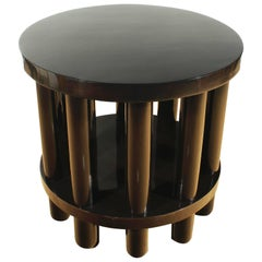 1900s Center Table by Adolf Loos, 10 columns, pine, beech, mahogany - Austria