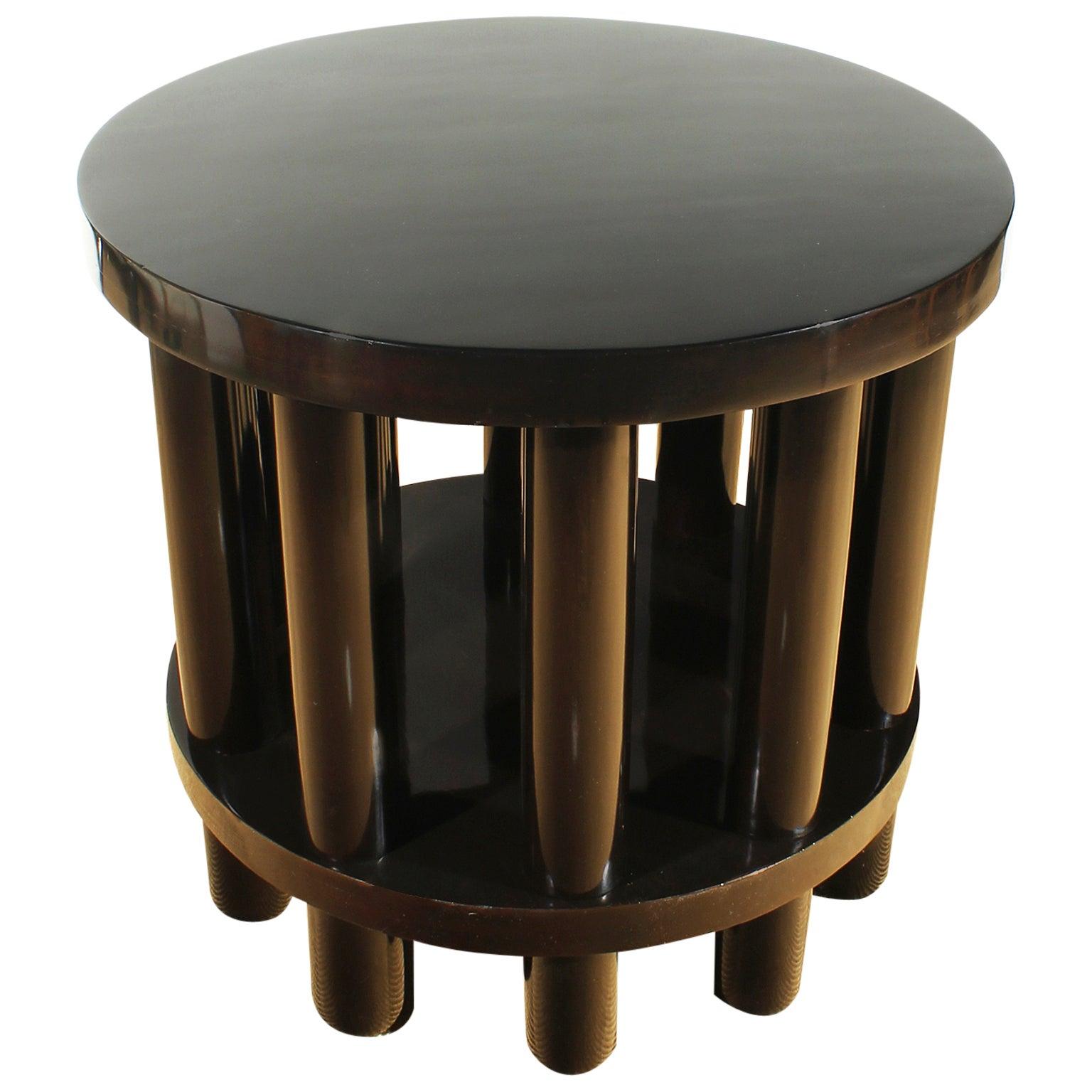 1900s Center Table by Adolf Loos, 10 columns, pine, beech, mahogany - Austria