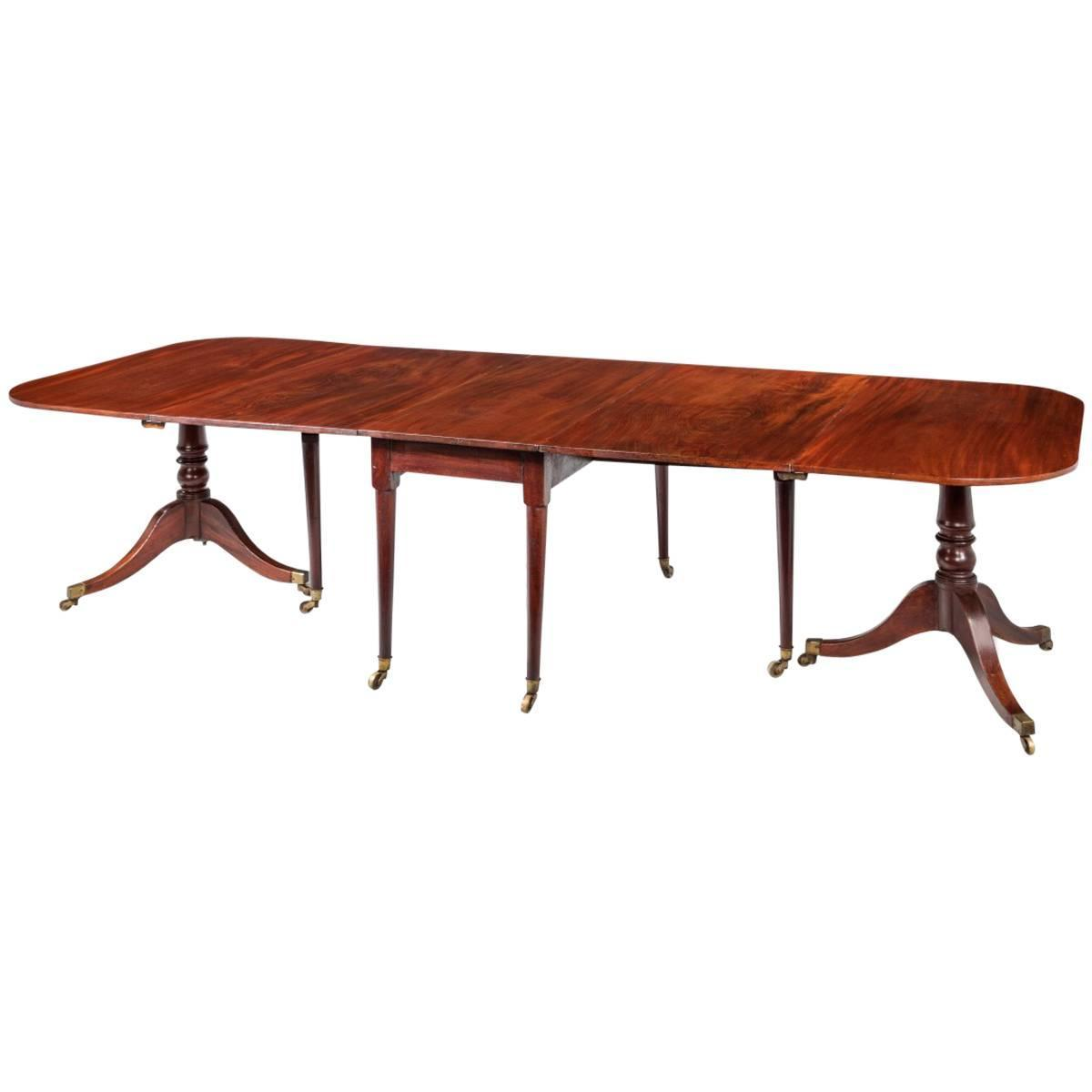george iii mahogany three section dining room table at 1stdibs