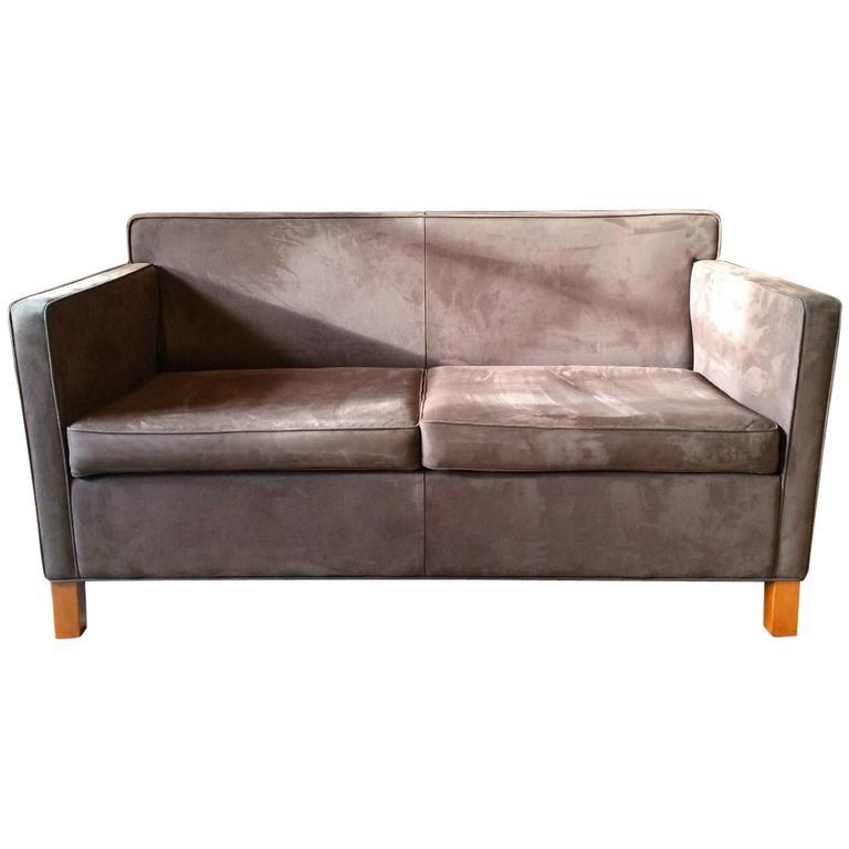 Knoll Studio Krefeld Two-Seat Sofa Settee Ludwig Mies van der Rohe Leather 1 at 1stdibs