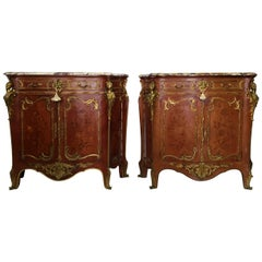 Rare Pair of Louis XVI  style side cabinets after Joseph Zwiener