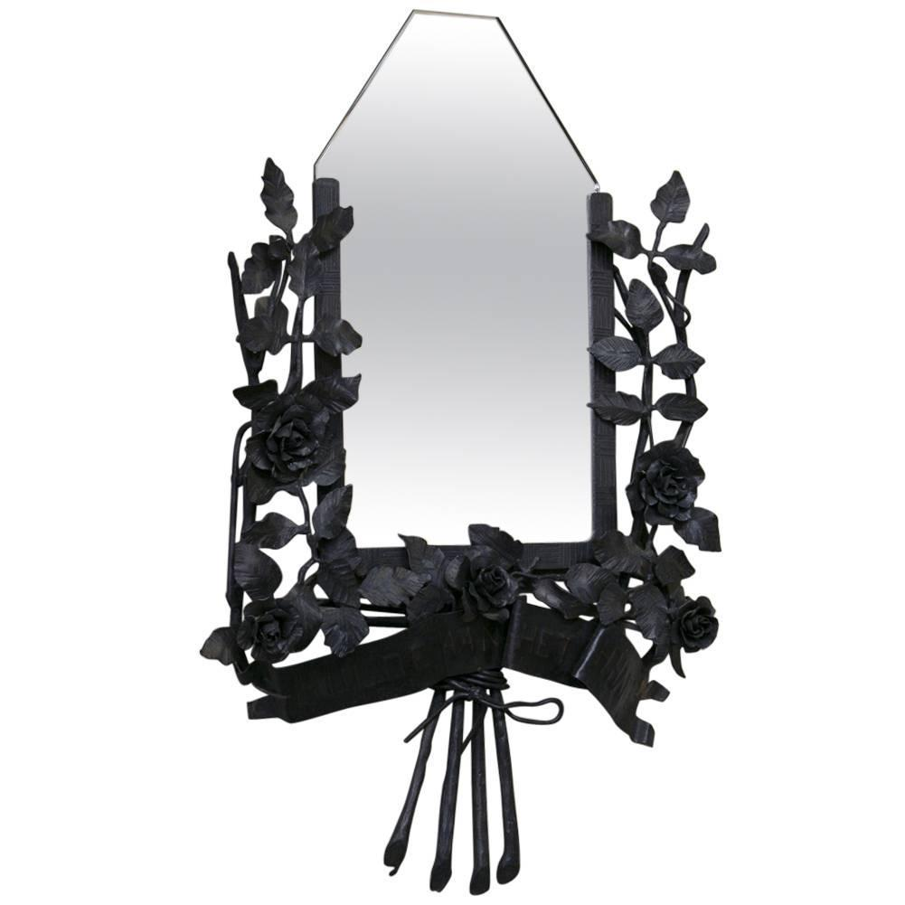 Hand Forged Wrought Iron Mirror Frame For Sale At 1stdibs