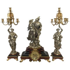 19th Century Clock Garniture by L. Gregoire