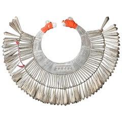 Lisu Tribe Silver Collar Necklace