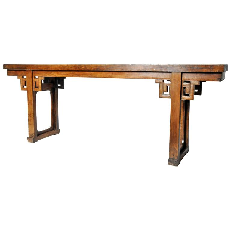 Chinese Open Trestle-Leg Altar Table