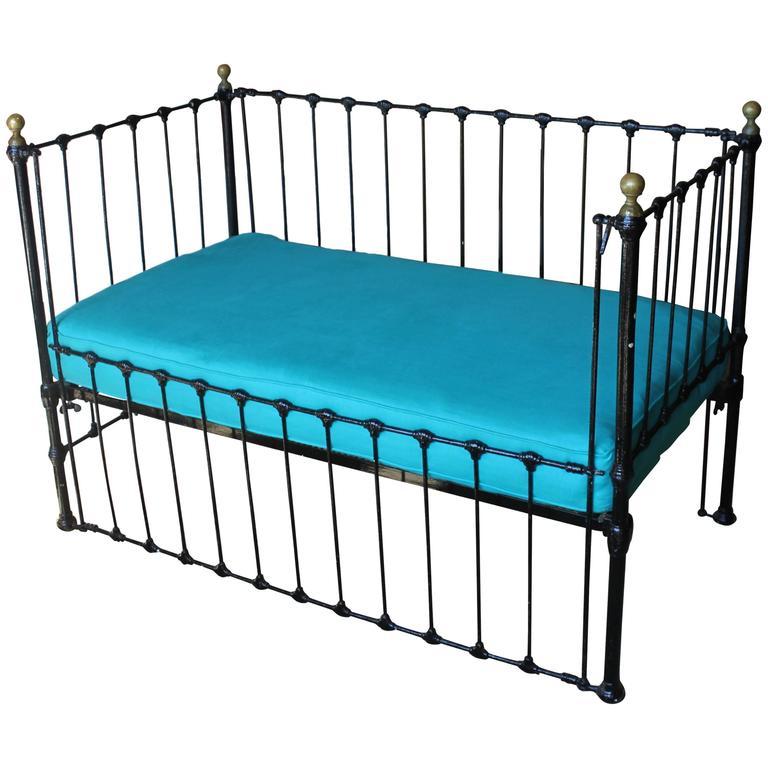 Antique Iron Convertible Crib Bench