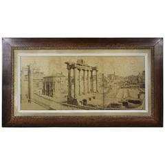 Large Italian Albumen Photograph of the Roman Forum