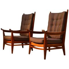 1930's Pair of Rare Modernist Lounge Chairs by Bas Van Pelt, Netherlands