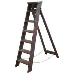 Rustic Seven Step Wooden Ladder