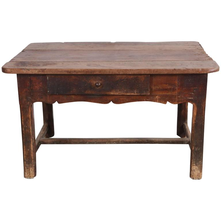 Rustic Primitive French Table For Sale