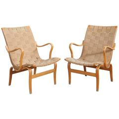 Pair of Bruno Mathsson Eva Chairs