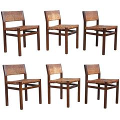 Set of Two Rush Dining Chairs