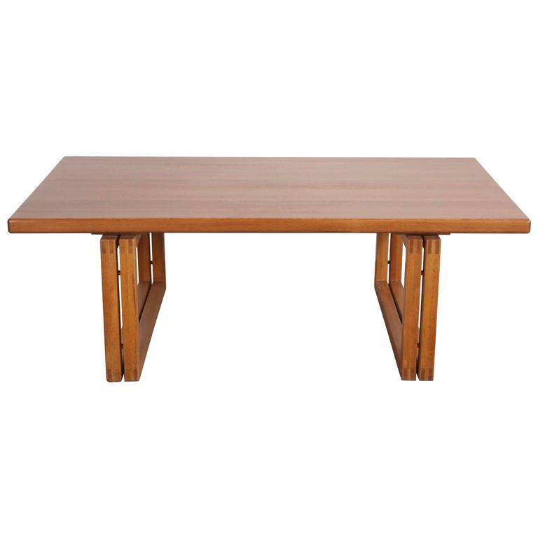 Double Leg Rectangular Coffee Table