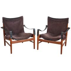 Pair of Hans Olsen Safari Chairs