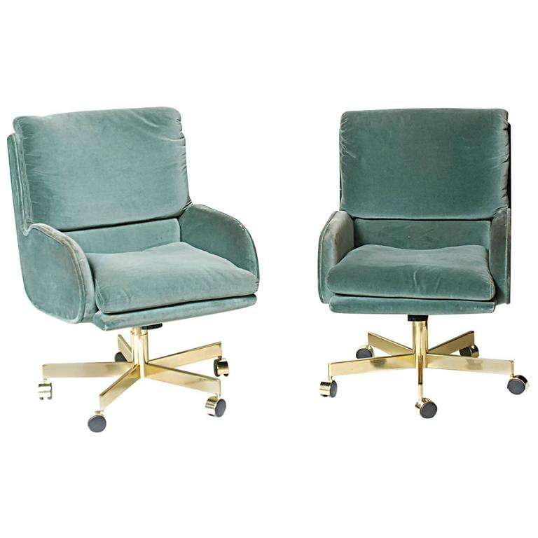 Pair Of Dunbar Office Chairs Designed By Roger Sprunger