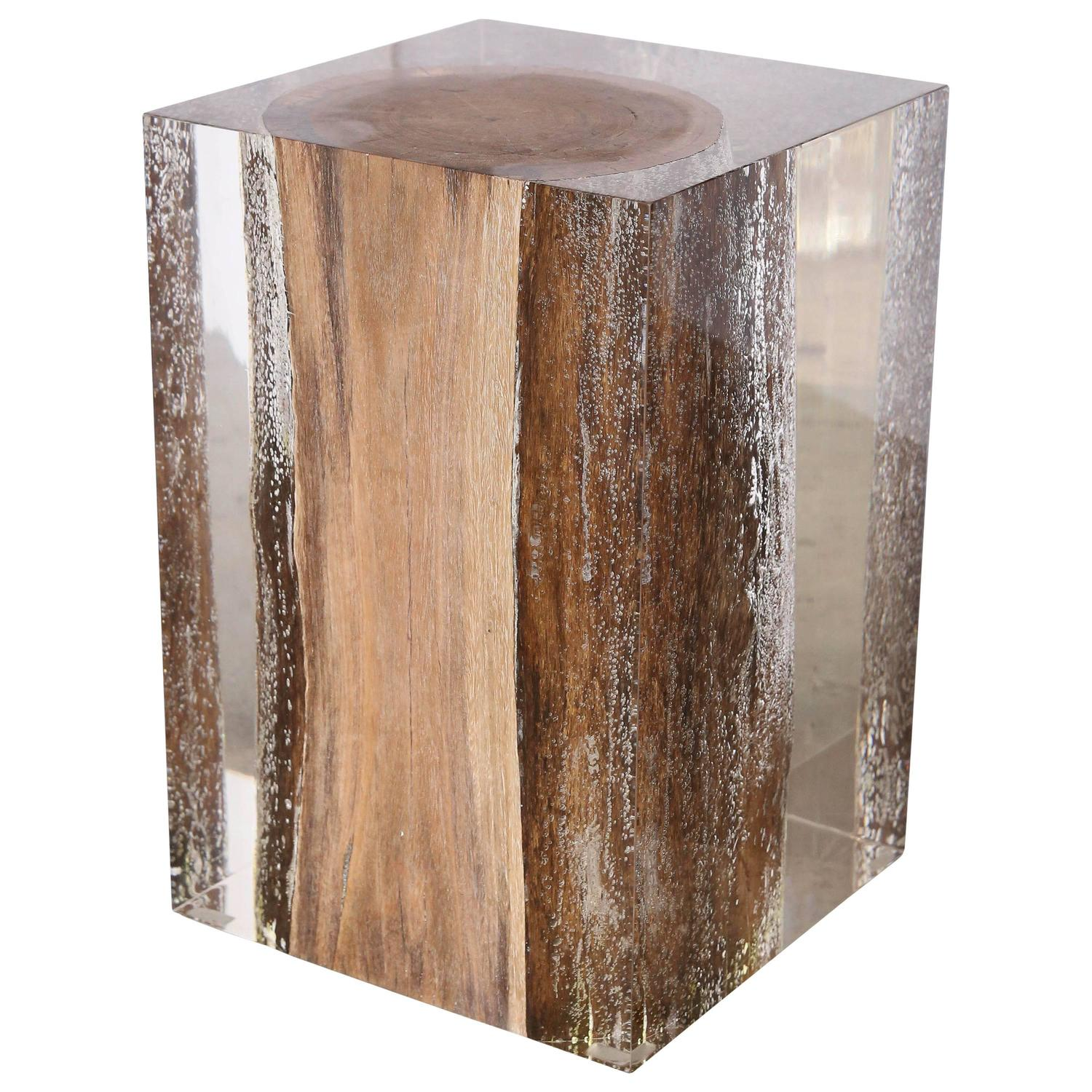 Acrylic Glass Nilleq Side Table And Stool For Sale At 1stdibs
