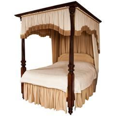 Four Poster Bed, 19th Century William IV Period Mahogany Attributable to Gillows