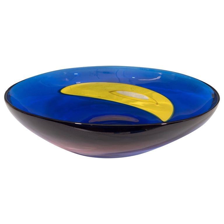 Archimede Seguso 'Carnevale' Murano Glass Bowl for Tiffany