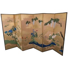Japanese Six-Panel Screen, Late Meiji-Early Showa Period