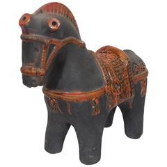 Matte Black Horse Statue for Raymor