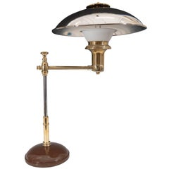 Scandinavian 1940s Table Lamp in Chrome-Plated Brass