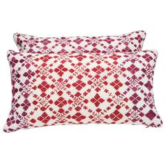 Swat Valley Embroidery Pillows 12 x 23