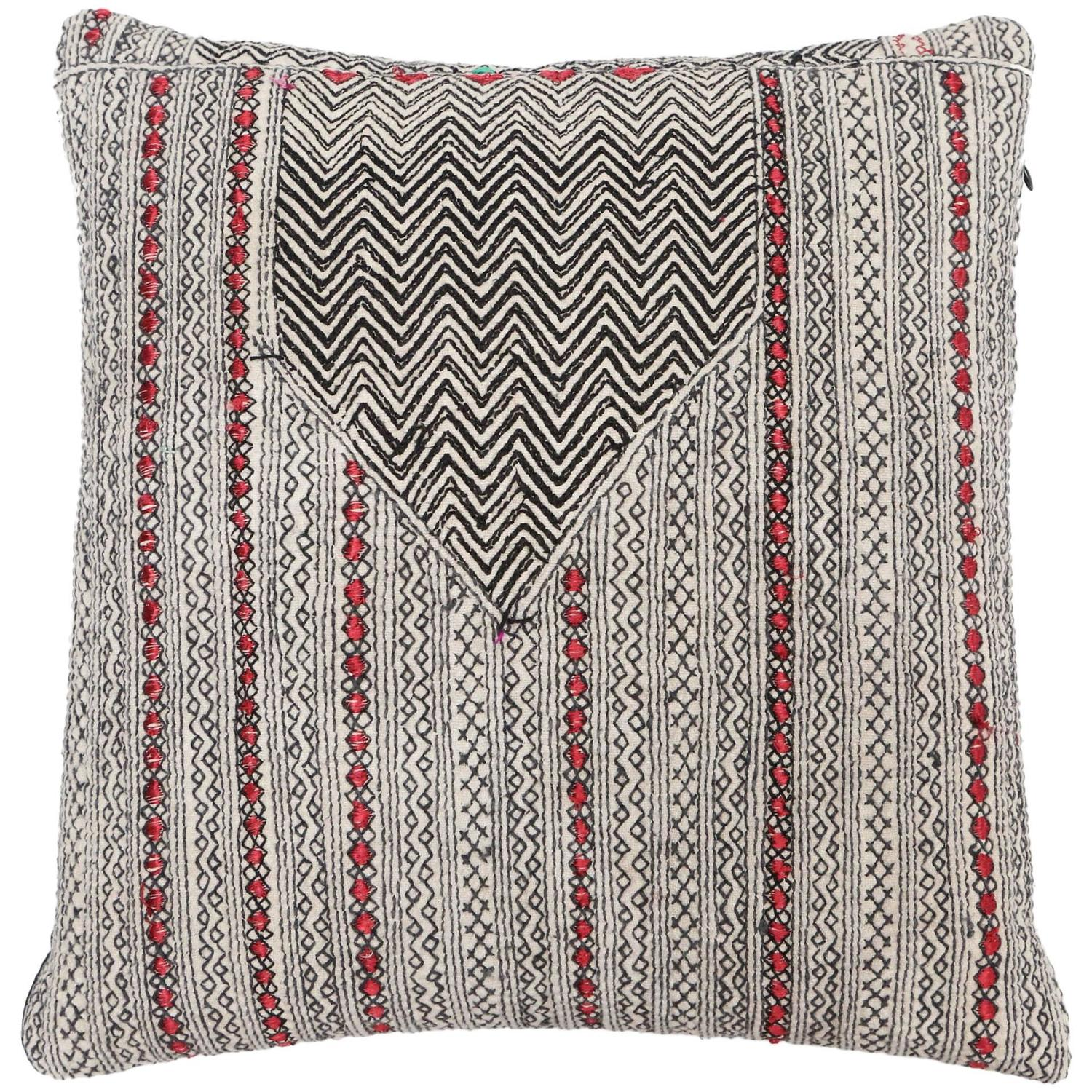 Vintage Afghani Embroidered Pillow at 1stdibs