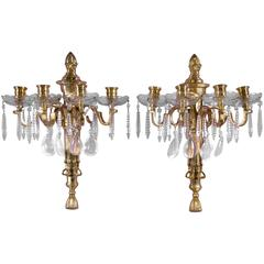 Caldwell Sconces with Rock Crystal