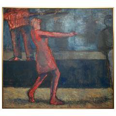 """Acrylic on Canvas, """"The Disco Dancer"""""""