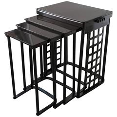 Nest of Tables with Grid by Josef Hoffmann
