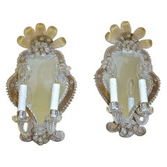 Pair of Venetian Italian Mirrored Wall Sconces