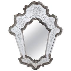 Very Early Venetian Mirror, Probably by Murano Glass of Venice