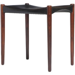 1950s Danish Stool by Ejner Larsen & Aksel Bender Madsen for Willy Beck
