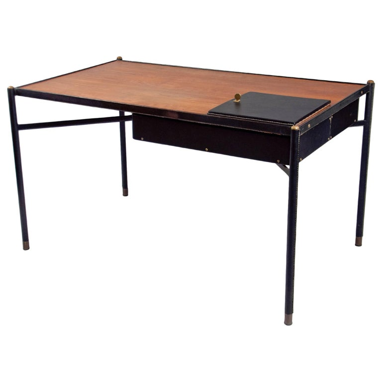 Desk by Jacques Adnet (1900-1984), France, c. 1940 For Sale