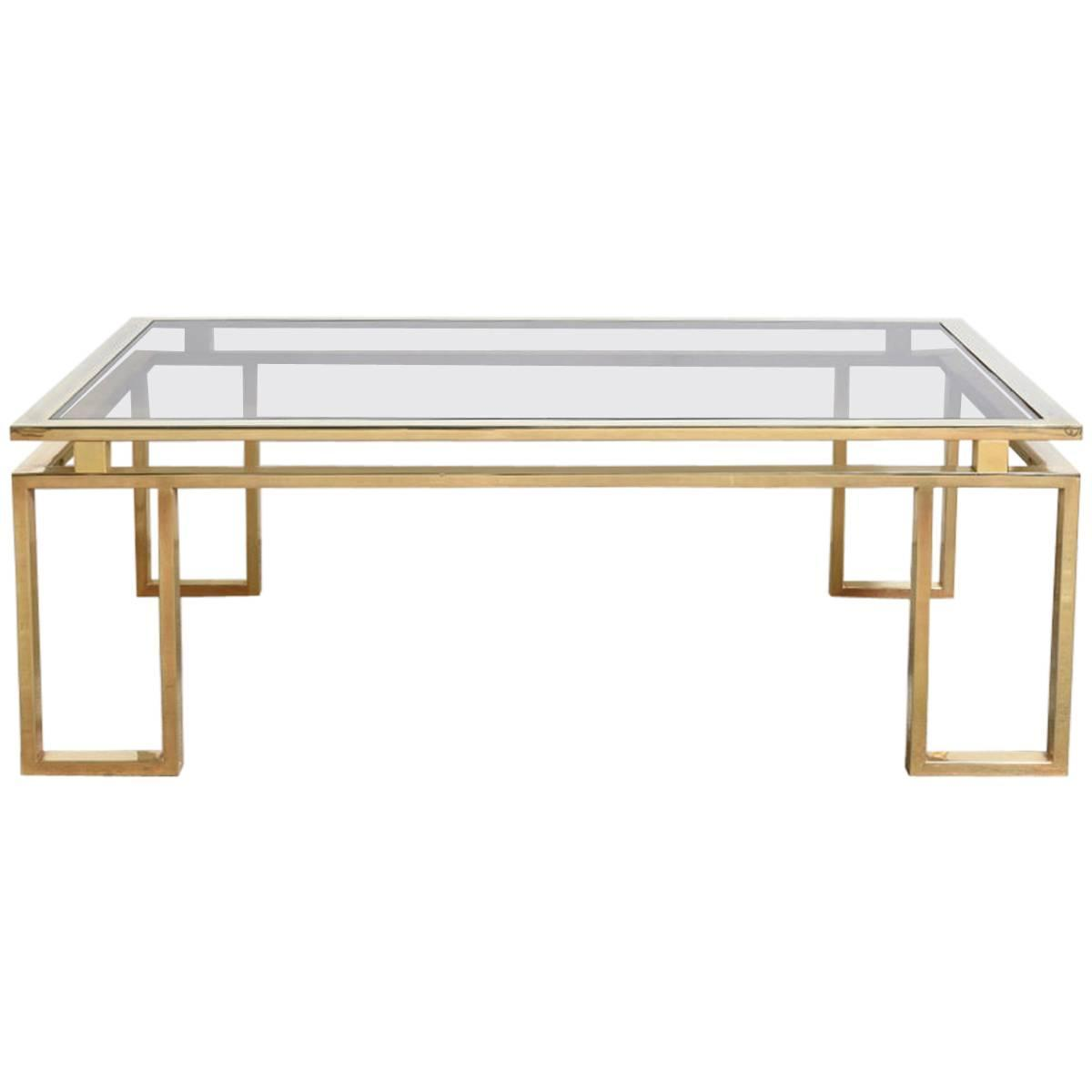 Belgo Chrome Brushed Brass Coffee Table At 1stdibs