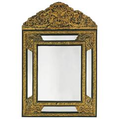 Vintage Brass Metal Clad Mirror