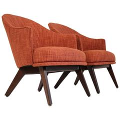 Adrian Pearsall Craft Associates Lounge Chair Pair