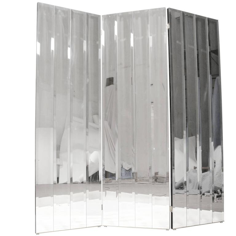 Henredon Beveled Mirror Room Divider For Sale