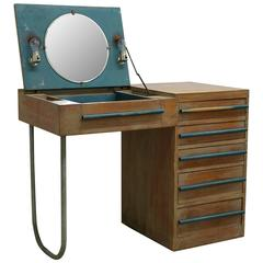 1940s Modern Custom Built Redwood Vanity Desk