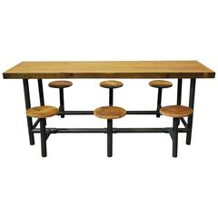 Factory Lunch Room Flip Table