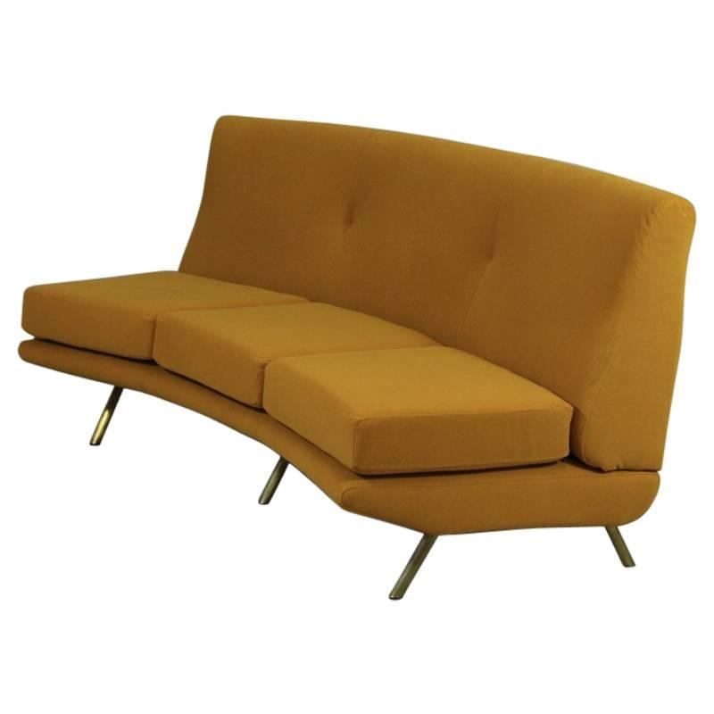curved sofa by marco zanuso 1950s for sale at 1stdibs