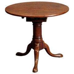 Mahogany Tripod Table with a Revolving Top, circa 1750