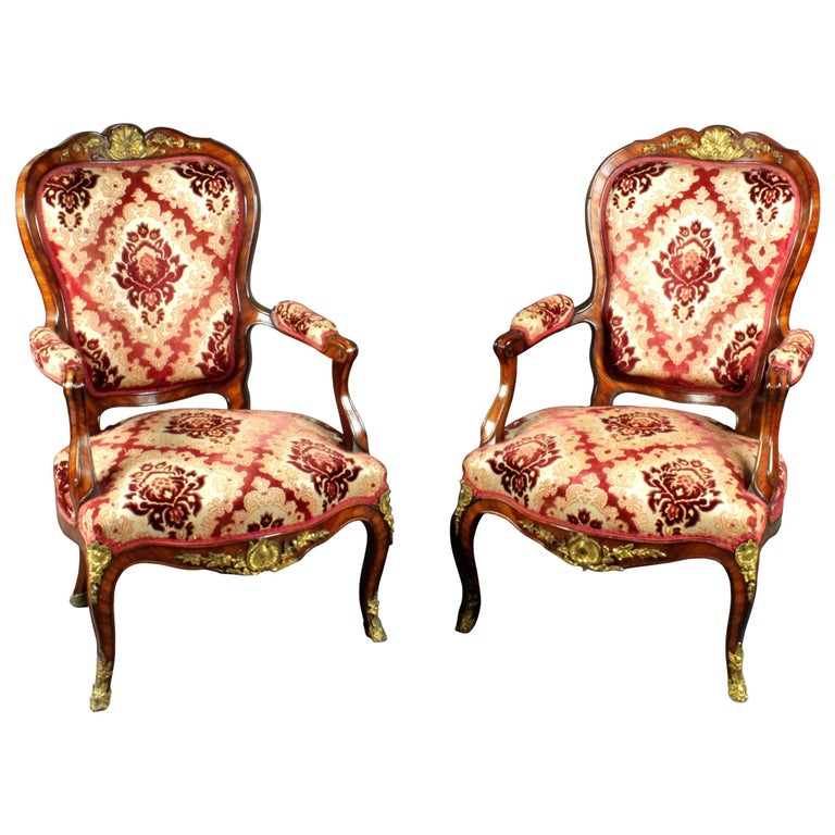 Antique Pair of Armchairs For Sale