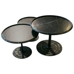 Giverny Coffee Tables/Michel Amar, Paris, Handcrafted in Marble and Bronze