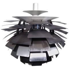 Poul Henningsen Steel Early Artichoke for Louis Poulsen, 1960s